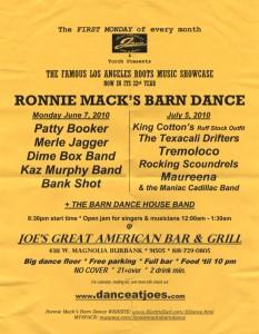 Ronny Mack's Barndance July 2010